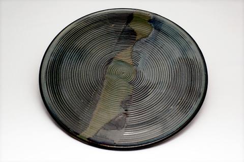 Teller, grün-blau, Ø 30 cm
