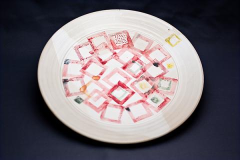 Teller, Farbdruck, Steinzeug, Ø 33 cm
